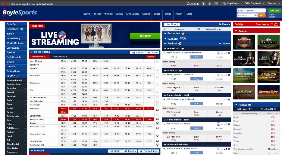 BoyleSports Homepage