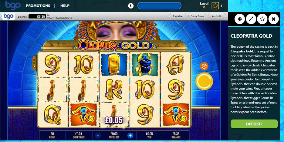bgo Casino - Cleopatra Slots