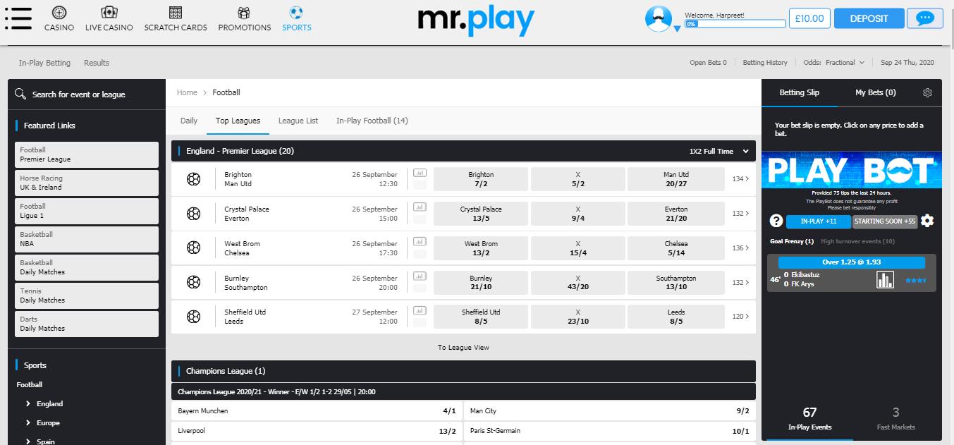 Mr Play - Football Homepage
