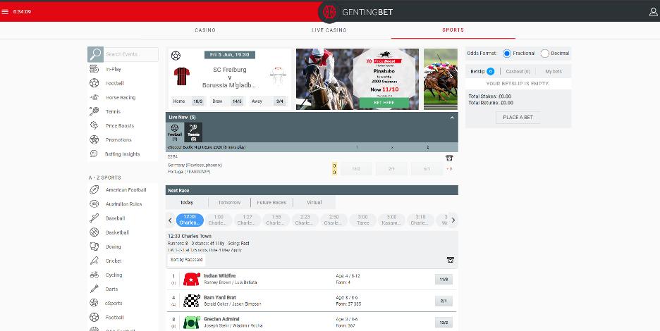 GentingBet - Homepage