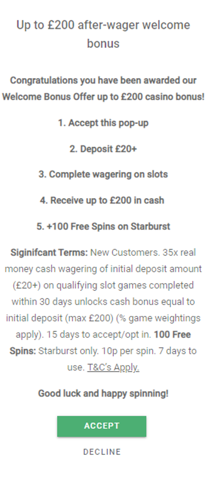 GentingBet - Registration Bonus for Casino