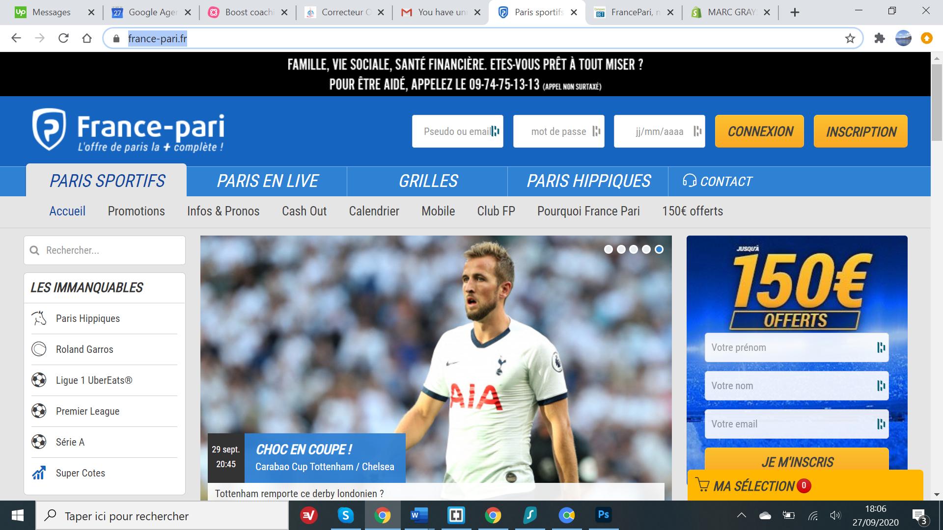 France Pari - Page Accueil