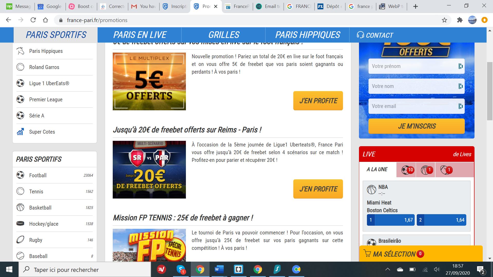 France Pari - Offres