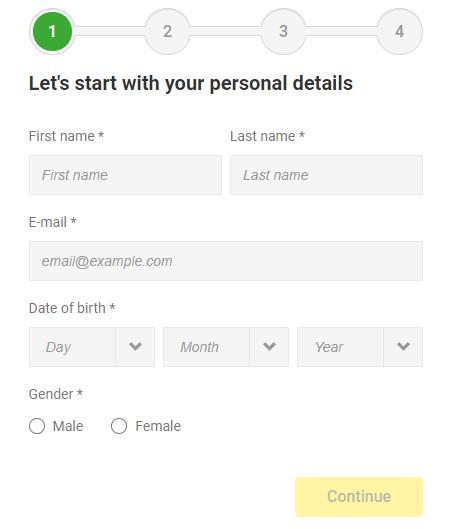 unibet-registration-page