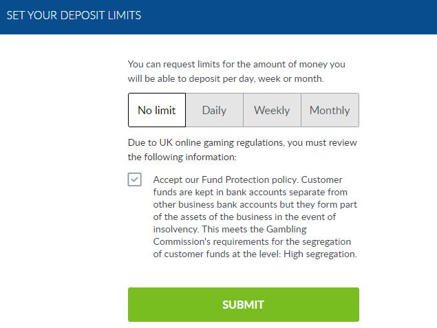 coral-set-your-deposit-limite-page