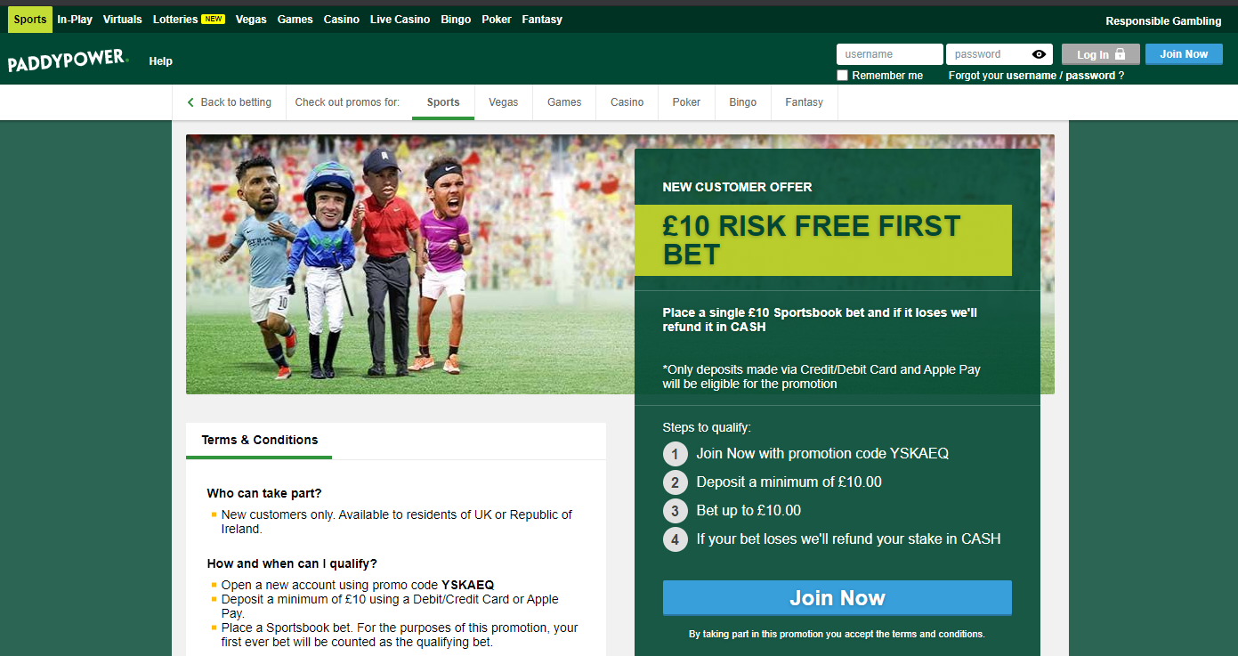 paddy-power-free-bet-offer