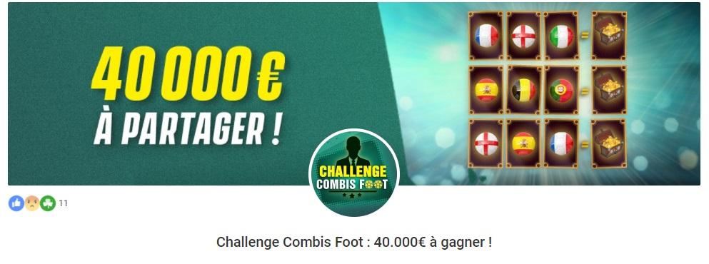 Unibet - Bonus Challenge Combis Foot